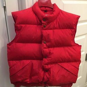 Vintage L.L. Bean Red Vest.  Goose down insulation